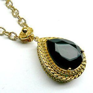 VERA WANG 18KT Gold over SILVER w/ Stone Necklace